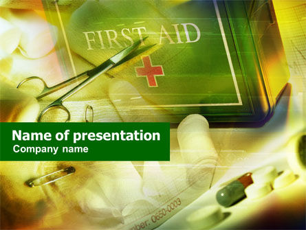 Medical: First Aid Chest PowerPoint Template #01222