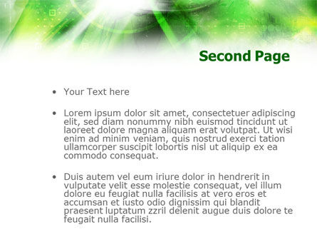 Green Abstract Theme PowerPoint Template, Slide 2, 01223, Technology and Science — PoweredTemplate.com