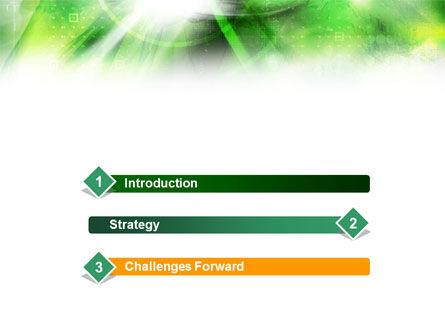 Green Abstract Theme PowerPoint Template, Slide 3, 01223, Technology and Science — PoweredTemplate.com