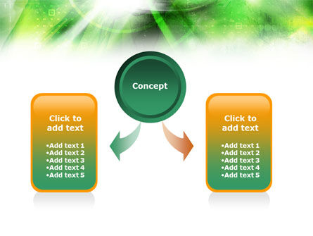Green Abstract Theme PowerPoint Template, Slide 4, 01223, Technology and Science — PoweredTemplate.com