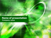 Technology and Science: Green Abstract Theme PowerPoint Template #01223