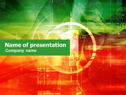 Abstract/Textures: Green and Red PowerPoint Template #01224