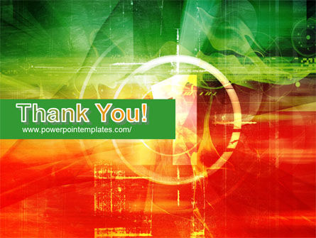 Green and Red PowerPoint Template Slide 20