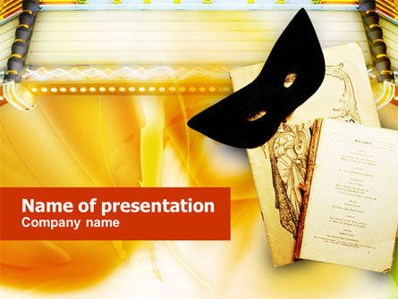Theatrical Play PowerPoint Template, 01225, Art & Entertainment — PoweredTemplate.com