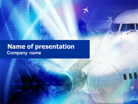 Air Liner Waiting To Fly PowerPoint Template