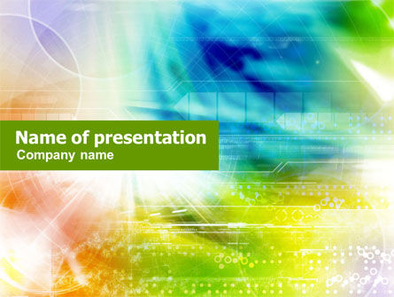 Abstract/Textures: Colorful Technological Collage PowerPoint Template #01227