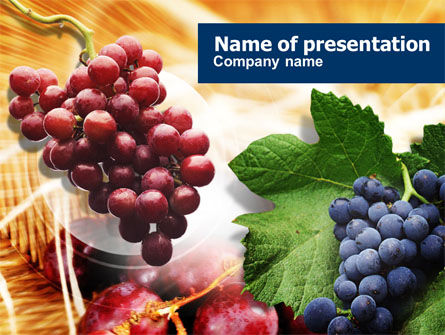 Food & Beverage: Grape PowerPoint Template #01231