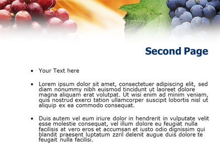 Grape PowerPoint Template Slide 2
