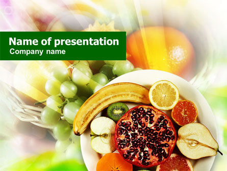 Food & Beverage: Pomegranate PowerPoint Template #01232