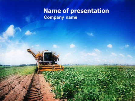 Harvester PowerPoint Template, 01233, Agriculture — PoweredTemplate.com