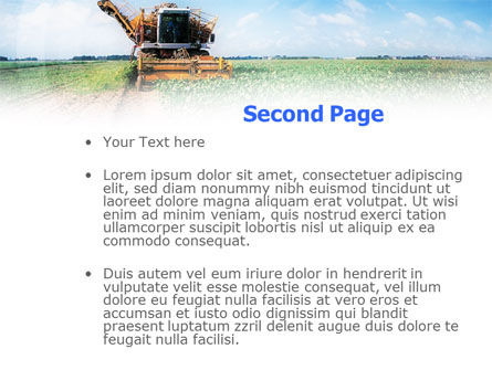 Harvester PowerPoint Template, Slide 2, 01233, Agriculture — PoweredTemplate.com