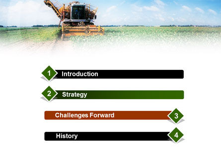 Harvester PowerPoint Template, Slide 3, 01233, Agriculture — PoweredTemplate.com