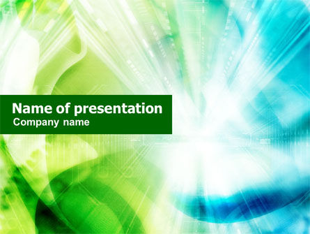 Business Concepts: Green-Aqua Light PowerPoint Template #01234