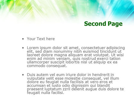 Green-Aqua Light PowerPoint Template Slide 2