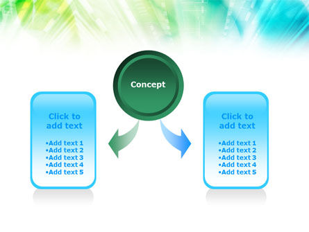 Green-Aqua Light PowerPoint Template Slide 4