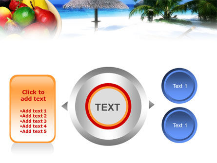 Exotic Fruits On Exotic Resort PowerPoint Template Slide 12