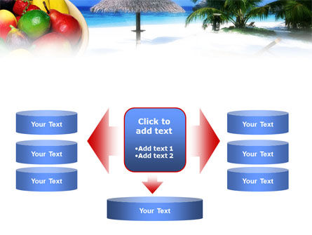Exotic Fruits On Exotic Resort PowerPoint Template Slide 13