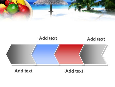 Exotic Fruits On Exotic Resort PowerPoint Template Slide 16