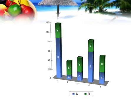 Exotic Fruits On Exotic Resort PowerPoint Template Slide 17