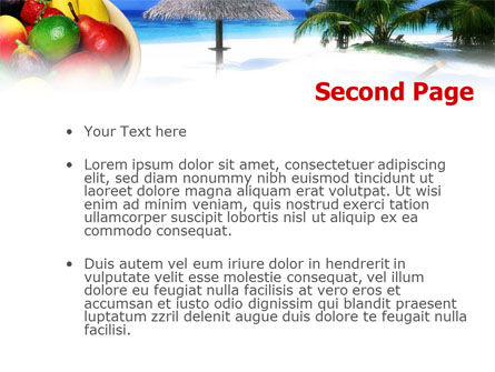 Exotic Fruits On Exotic Resort PowerPoint Template, Slide 2, 01235, Business Concepts — PoweredTemplate.com