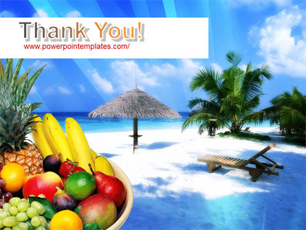 Exotic Fruits On Exotic Resort PowerPoint Template Slide 20