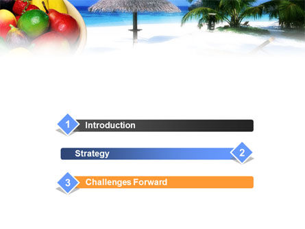 Exotic Fruits On Exotic Resort PowerPoint Template, Slide 3, 01235, Business Concepts — PoweredTemplate.com
