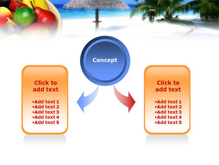Exotic Fruits On Exotic Resort PowerPoint Template, Slide 4, 01235, Business Concepts — PoweredTemplate.com