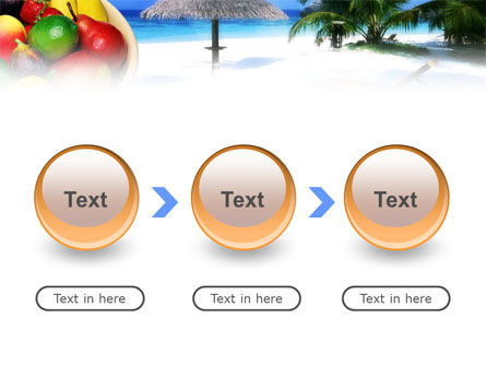 Exotic Fruits On Exotic Resort PowerPoint Template Slide 5