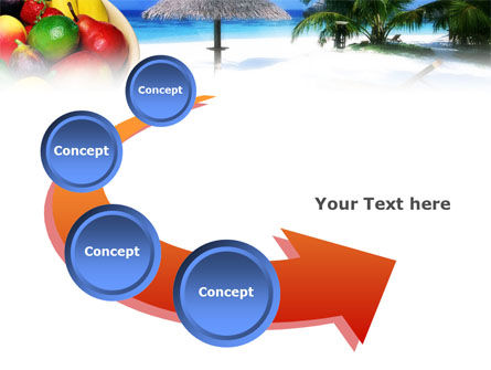 Exotic Fruits On Exotic Resort PowerPoint Template Slide 6