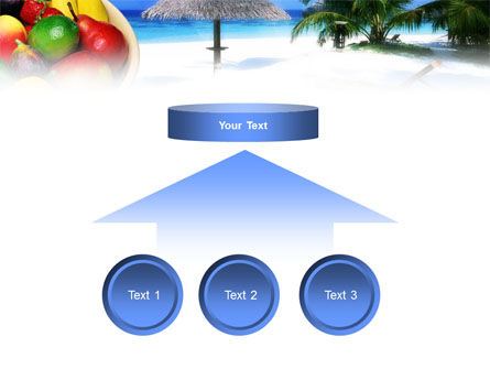 Exotic Fruits On Exotic Resort PowerPoint Template Slide 8