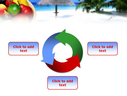 Exotic Fruits On Exotic Resort PowerPoint Template Slide 9