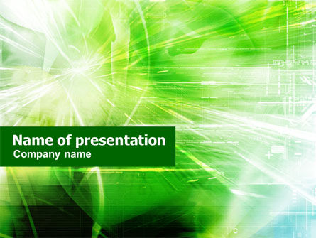 Abstract/Textures: Green Shiny Theme PowerPoint Template #01236