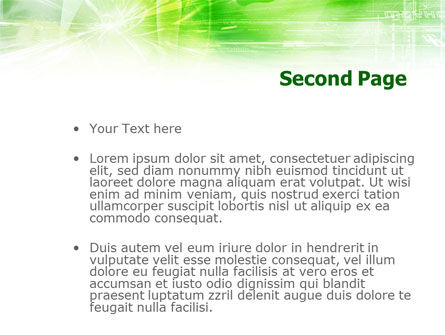 Green Shiny Theme PowerPoint Template Slide 2