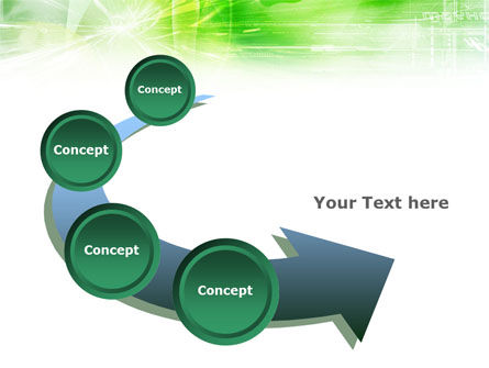 Green Shiny Theme PowerPoint Template Slide 6