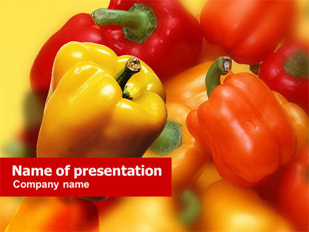 Food & Beverage: Paprika PowerPoint Template #01237