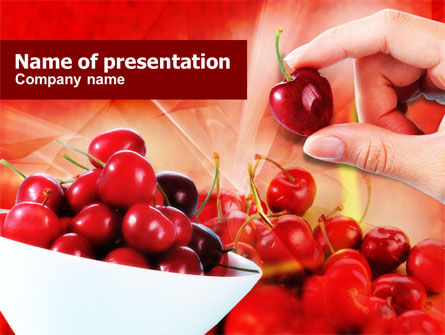 Merry PowerPoint Template, 01238, Food & Beverage — PoweredTemplate.com