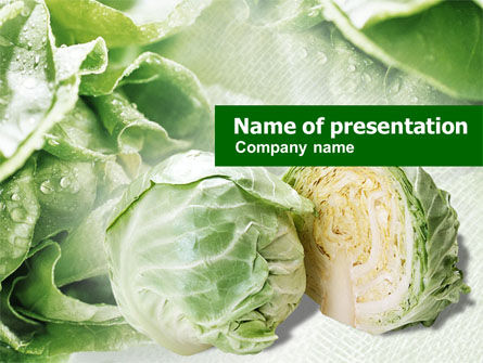 Food & Beverage: Fresh Cabbage PowerPoint Template #01239