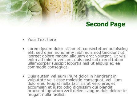 Fresh Cabbage PowerPoint Template, Slide 2, 01239, Food & Beverage — PoweredTemplate.com