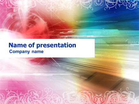 Rainbow Color Theme PowerPoint Template, 01240, Abstract/Textures — PoweredTemplate.com