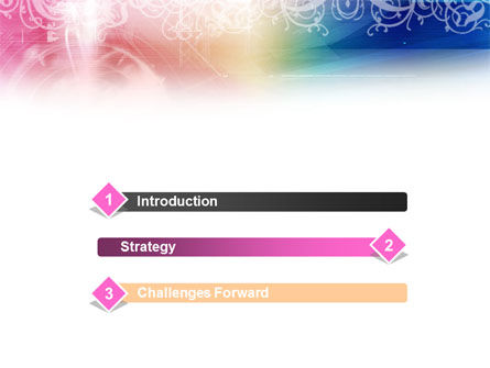 Rainbow Color Theme PowerPoint Template, Slide 3, 01240, Abstract/Textures — PoweredTemplate.com
