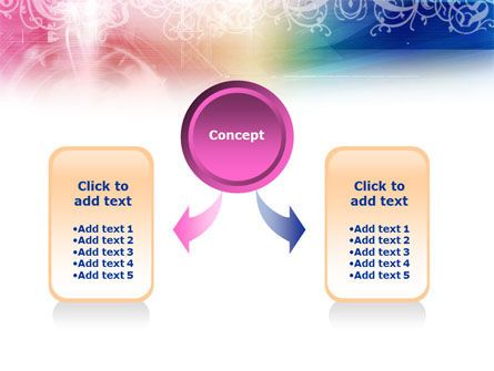 Rainbow Color Theme PowerPoint Template, Slide 4, 01240, Abstract/Textures — PoweredTemplate.com