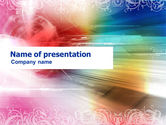 Abstract/Textures: Modello PowerPoint - Tema di colore dell'arcobaleno #01240