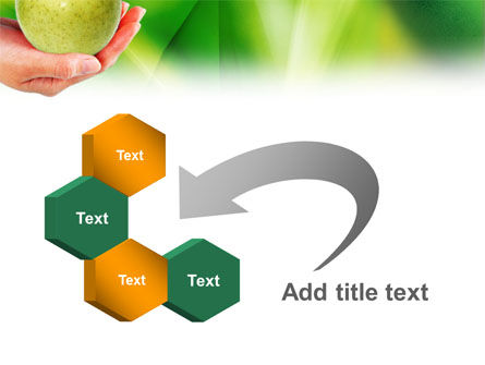 Green Apple In Hand PowerPoint Template Slide 11