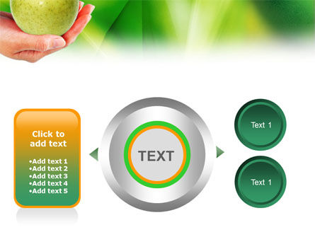 Green Apple In Hand PowerPoint Template Slide 12