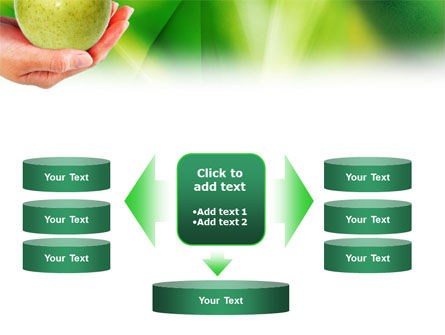 Green Apple In Hand PowerPoint Template Slide 13