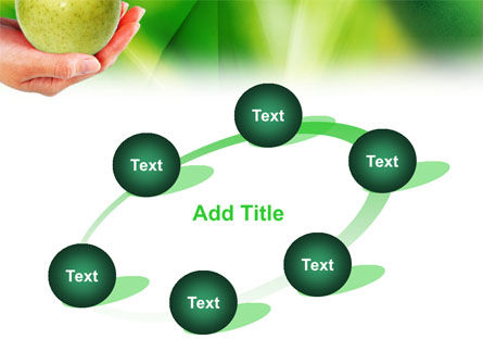 Green Apple In Hand PowerPoint Template Slide 14