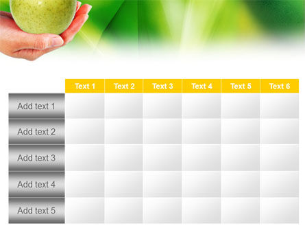 Green Apple In Hand PowerPoint Template Slide 15