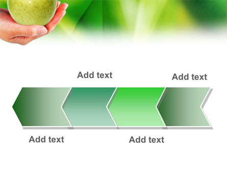 Green Apple In Hand PowerPoint Template Slide 16