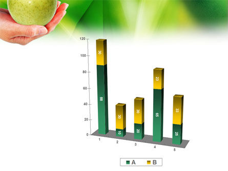 Green Apple In Hand PowerPoint Template Slide 17