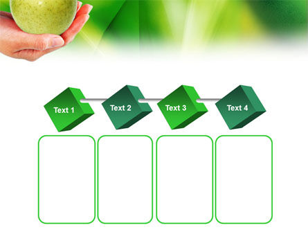 Green Apple In Hand PowerPoint Template Slide 18